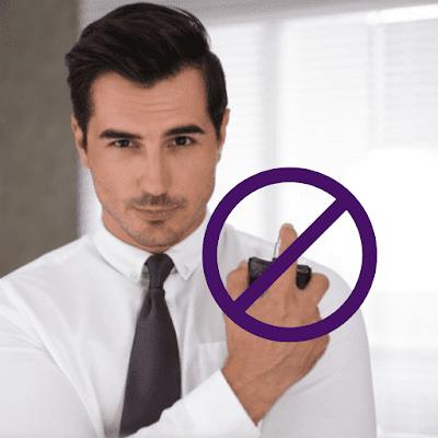Não aplicar perfume no pescoço